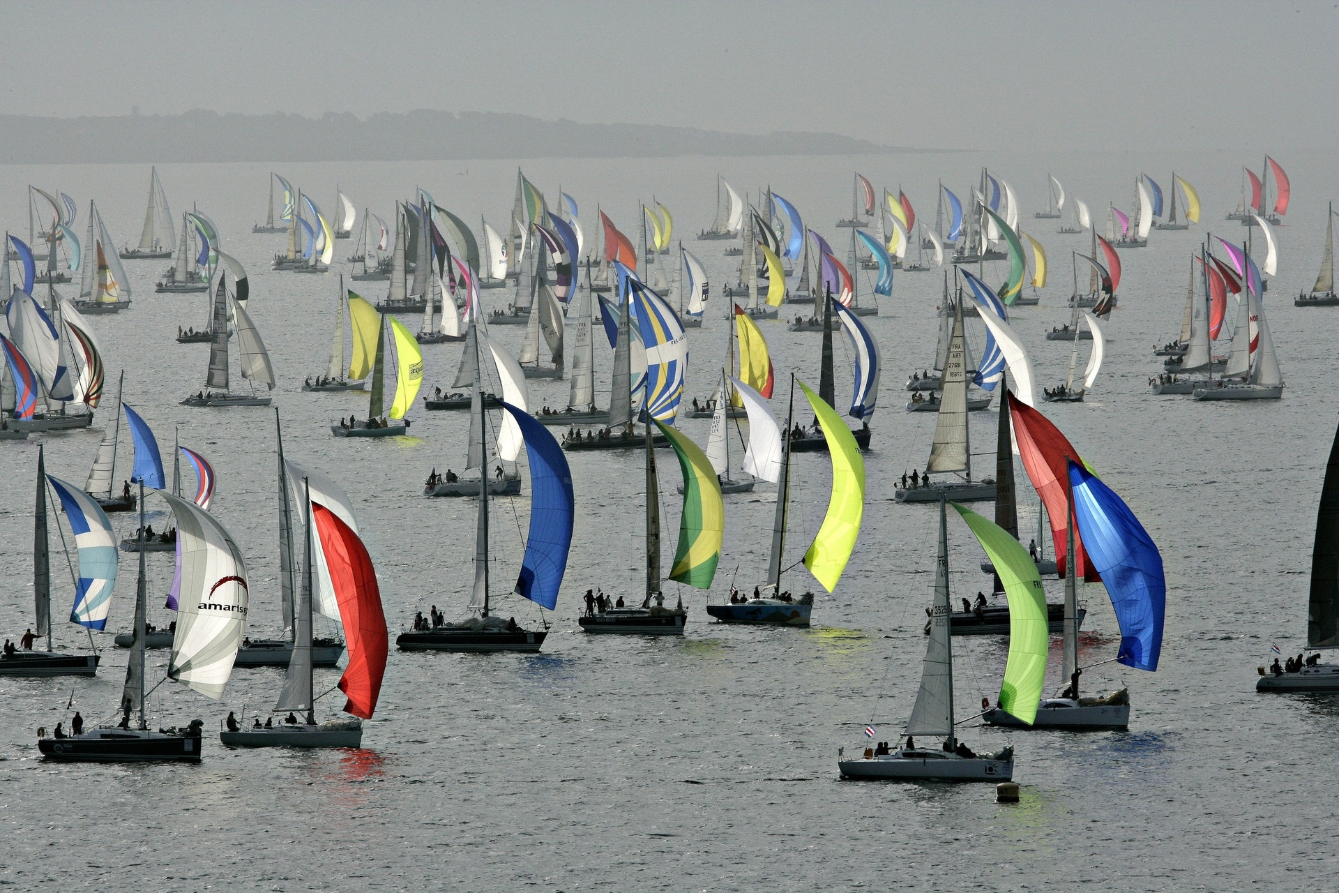 La flotte du TOUR DE BELLE-ILE
